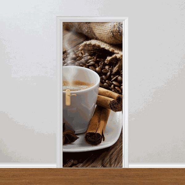 Adesivo para Porta - Xícara de Café