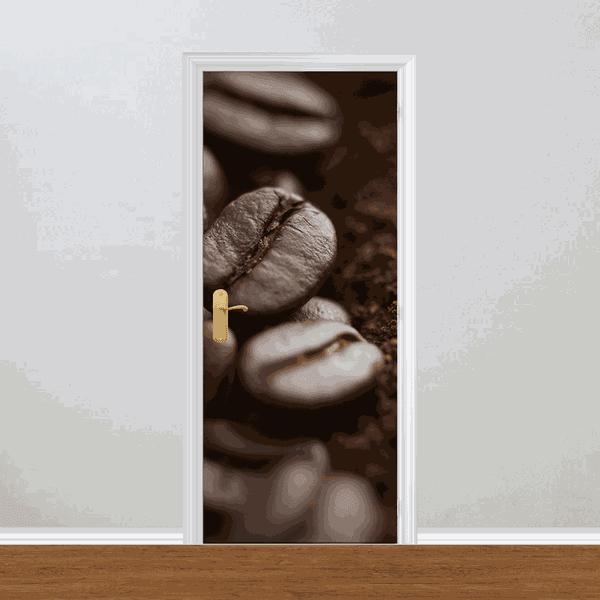 Adesivo para Porta - Grão de Café