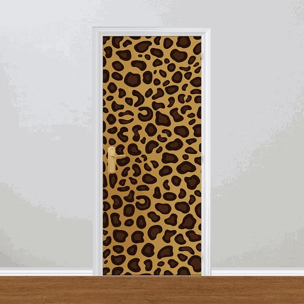 Adesivo para Porta - Textura de Onça