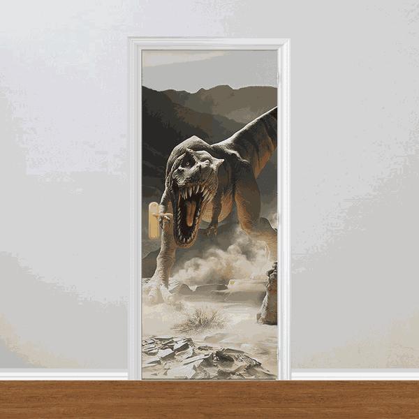 Adesivo para Porta - Dinossauros