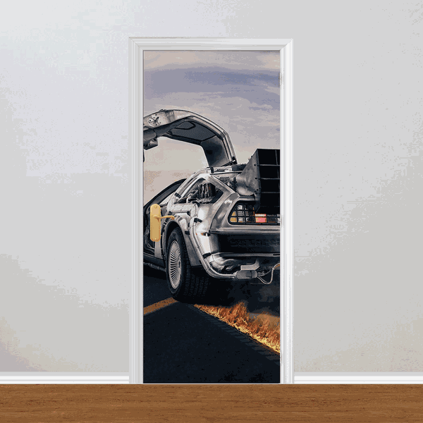 Adesivo para Porta - DeLorean