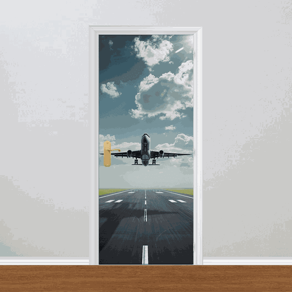 Adesivo para Porta - Avião