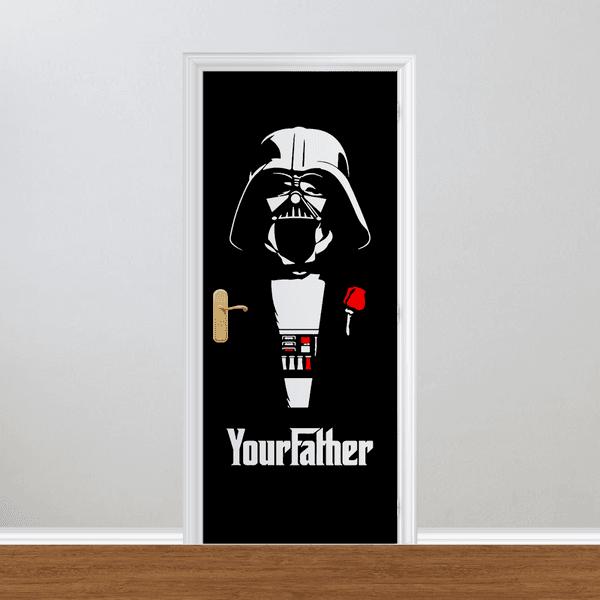 Adesivo para Porta - Your Father Darth Vader
