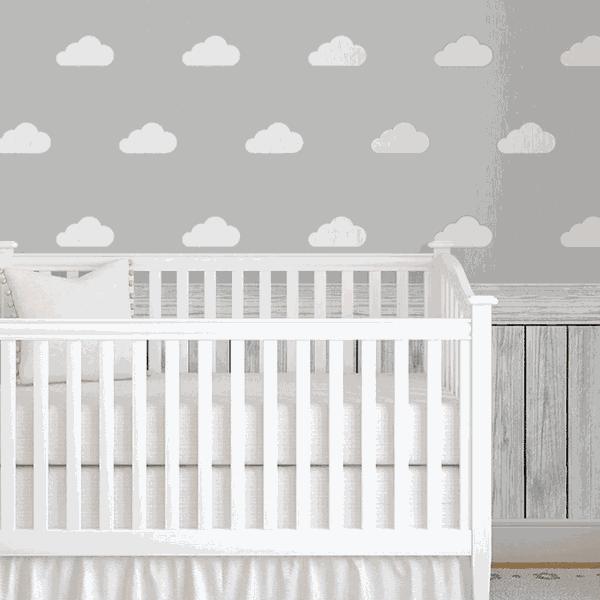 Papel de Parede Adesivo - Nuvens Baby