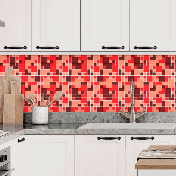 Pastilhas Resinadas - Variada Mosaico Rosa