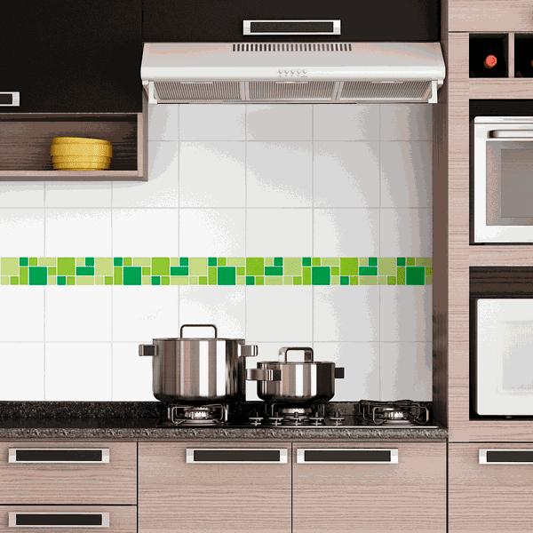 Pastilhas Resinadas - Variada Mosaico Verde Claro