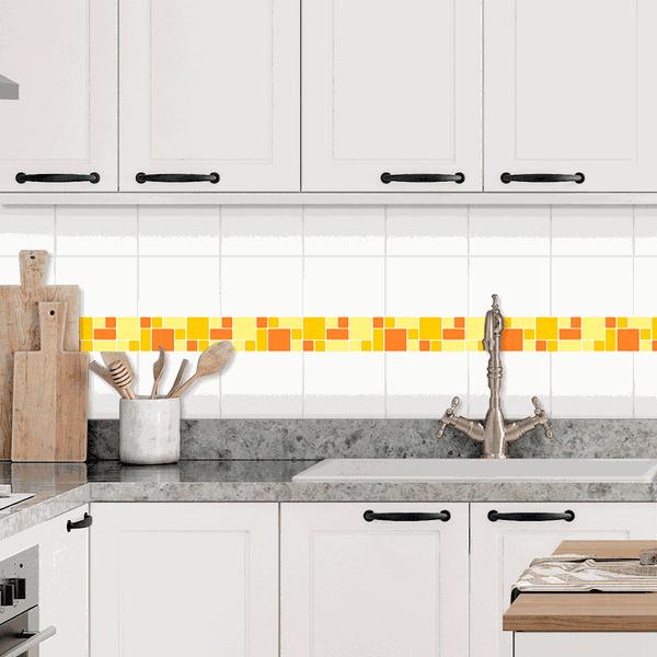 Pastilhas Resinadas - Variada Mosaico Amarelo e Laranja