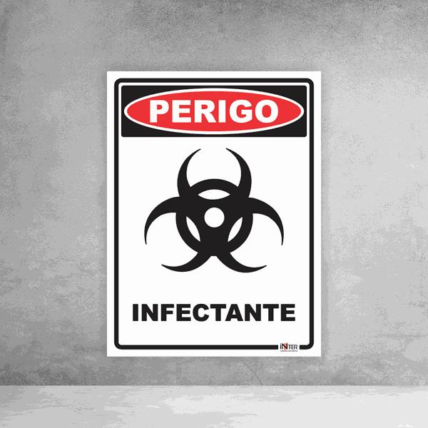 Placa de Sinalização - Perigo Infectante