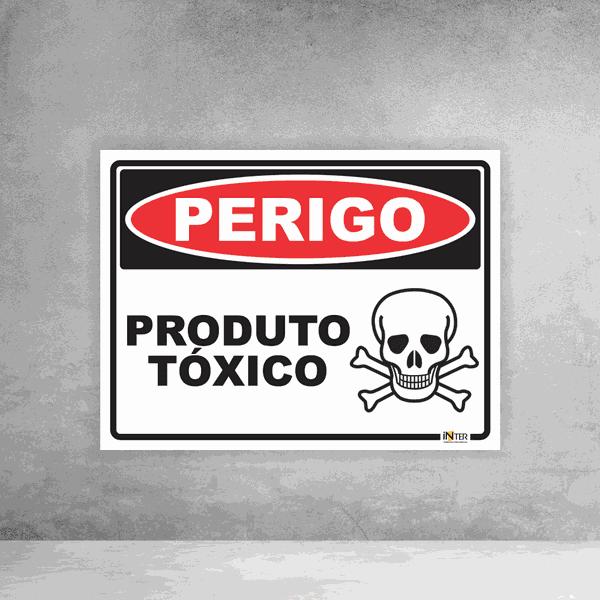 Placa de Sinalização - Perigo Produto Tóxico
