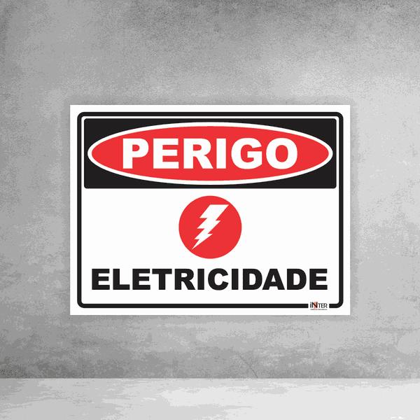 Placa de Sinalização - Perigo Eletricidade