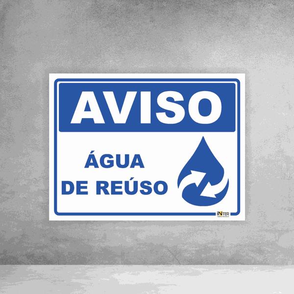 Placa de Sinalização - Aviso Água de Reúso