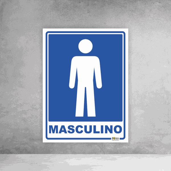 Placa de Sinalização - Identificação Sanitário Masculino