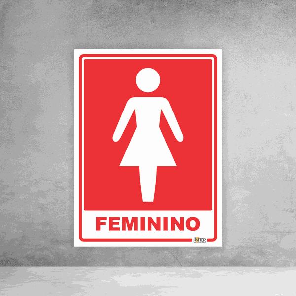 Placa de Sinalização - Identificação Sanitário Feminino