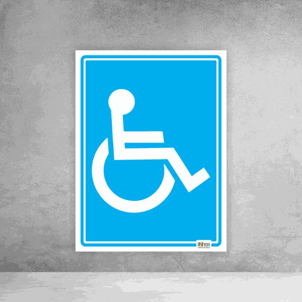 Placa de Sinalização - Identificação Sanitário Deficiente
