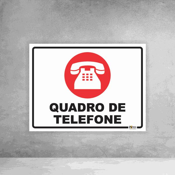 Placa de Sinalização - Quadro de Telefone