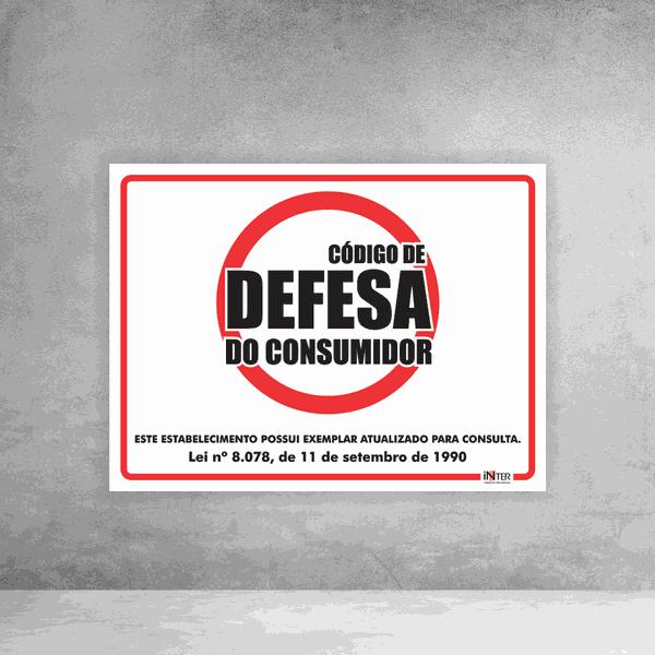 Placa de Sinalização - Código de Defesa do Consumidor