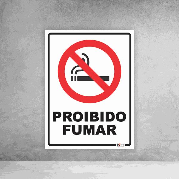 Placa de Sinalização - Proibido Fumar