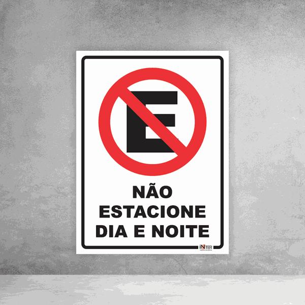 Placa de Sinalização - Proibido Estacionar