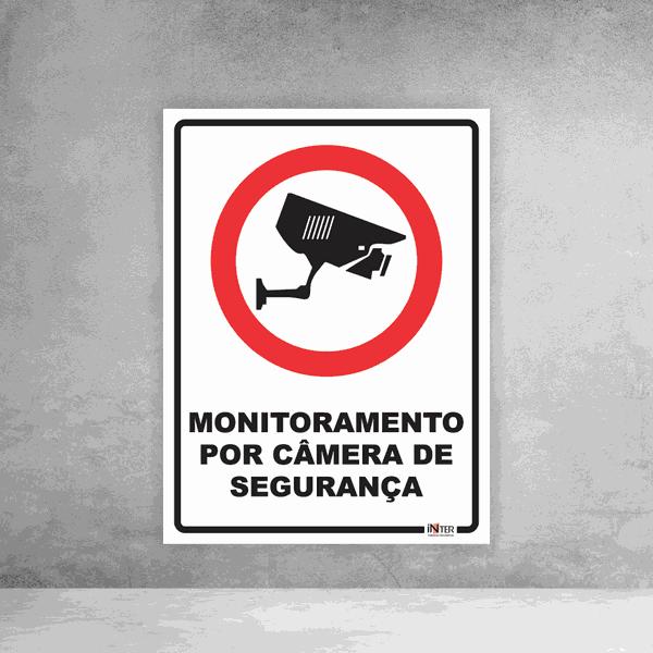 Placa de Sinalização - Monitoramento por Câmera de Segurança