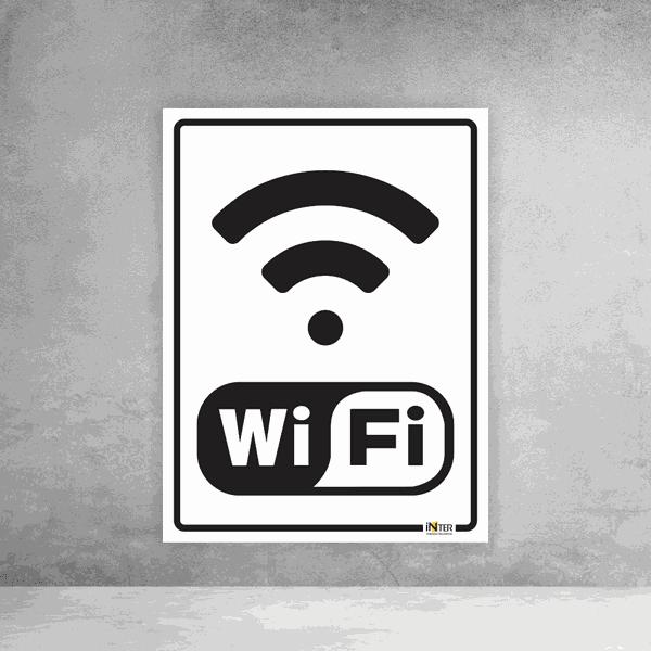 Placa de Sinalização - Wifi
