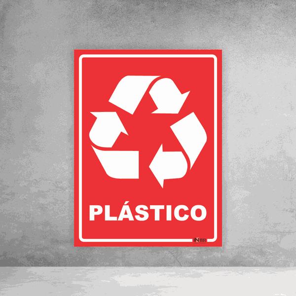 Placa de Sinalização - Reciclável Plástico