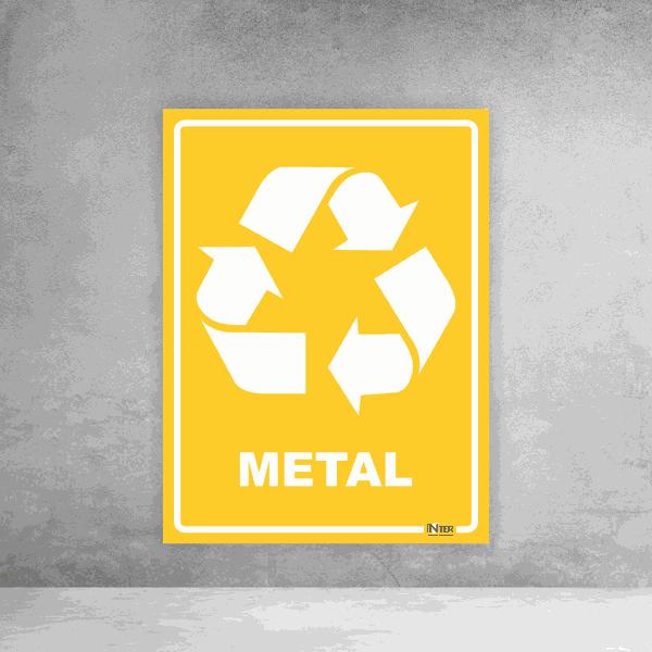 Placa de Sinalização - Reciclável Metal