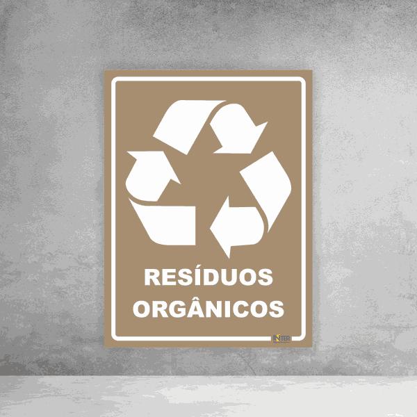 Placa de Sinalização - Reciclável Resíduos Orgânicos