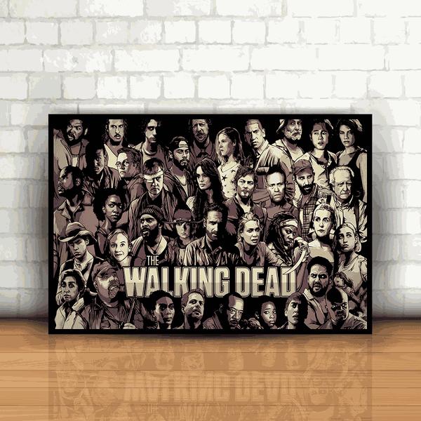 Placa Decorativa - The Walking Dead