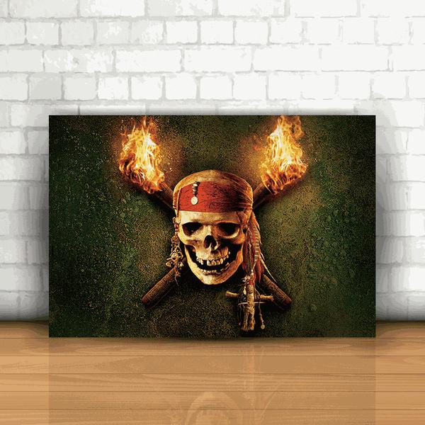 Placa Decorativa - Piratas do Caribe