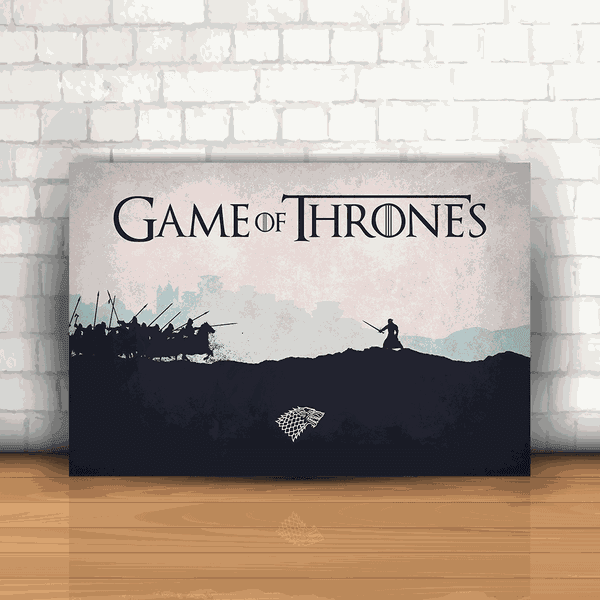 Placa Decorativa - Game of Thrones Jon Snow