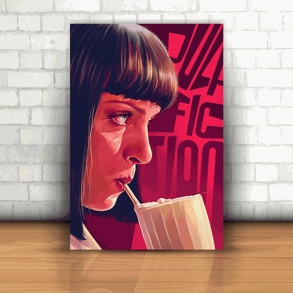 Placa Decorativa - Pulp Fiction Mia Wallace