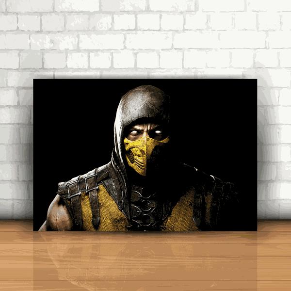 Placa Decorativa - Mortal Kombat Scorpion