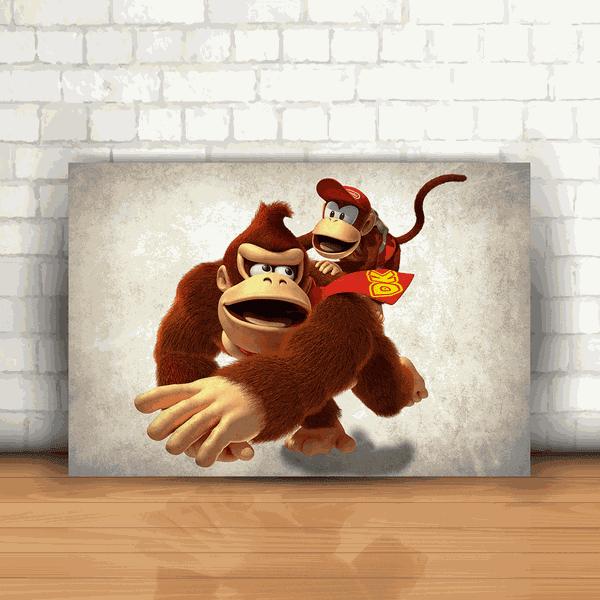 Placa Decorativa - Donkey Kong mod 01