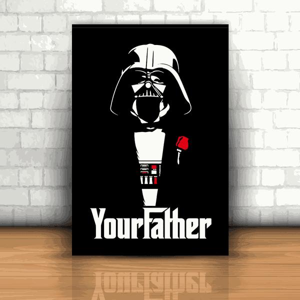 Placa Decorativa - Your Father Darth Vader