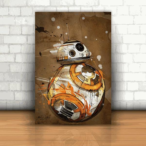 Placa Decorativa - Star Wars Robô BB-8