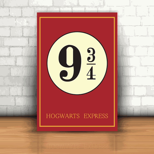 Placa Decorativa - Harry Potter Hogwarts Express
