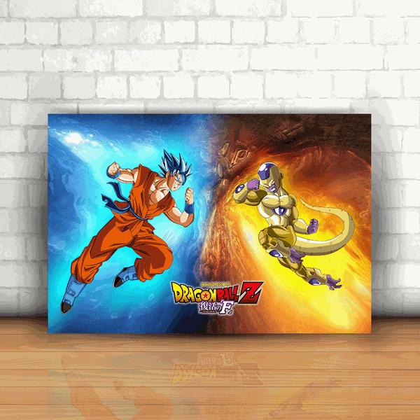Placa Decorativa - Dragon Ball Goku x Freeza