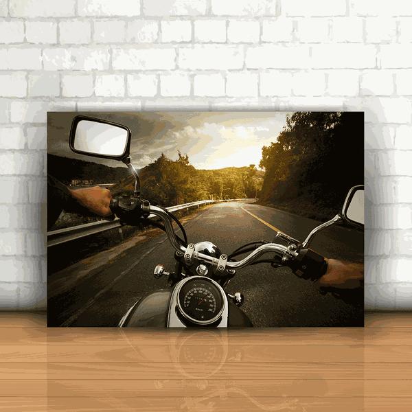 Placa Decorativa - Moto Viagem