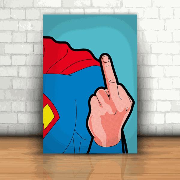 Placa Decorativa - Superman Fuck