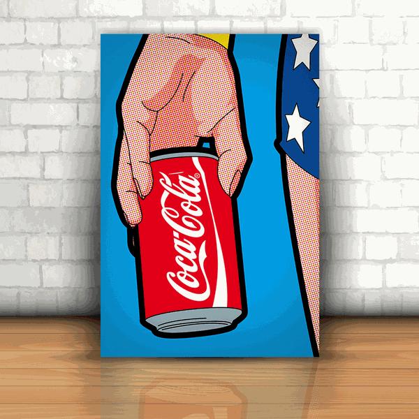 Placa Decorativa - Mulher Maravilha Coca-Cola