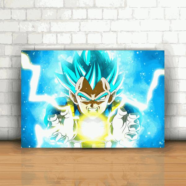 Placa Decorativa - Dragon Ball Z Vegeta