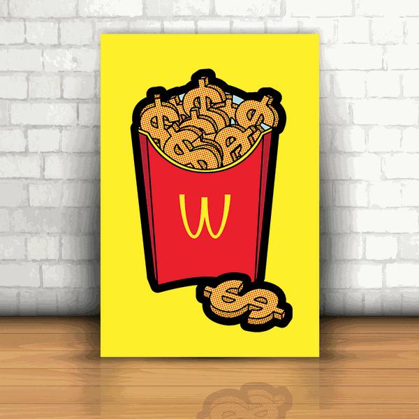 Placa Decorativa - Batata McDonald's