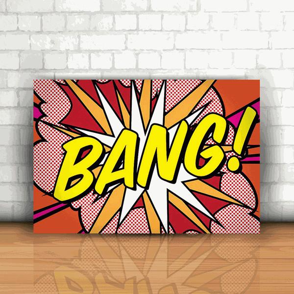 Placa Decorativa - Bang!