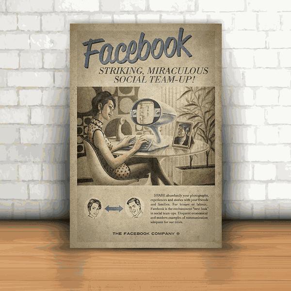 Placa Decorativa - Facebook