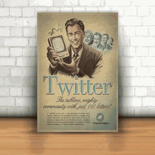 Placa Decorativa - Twitter