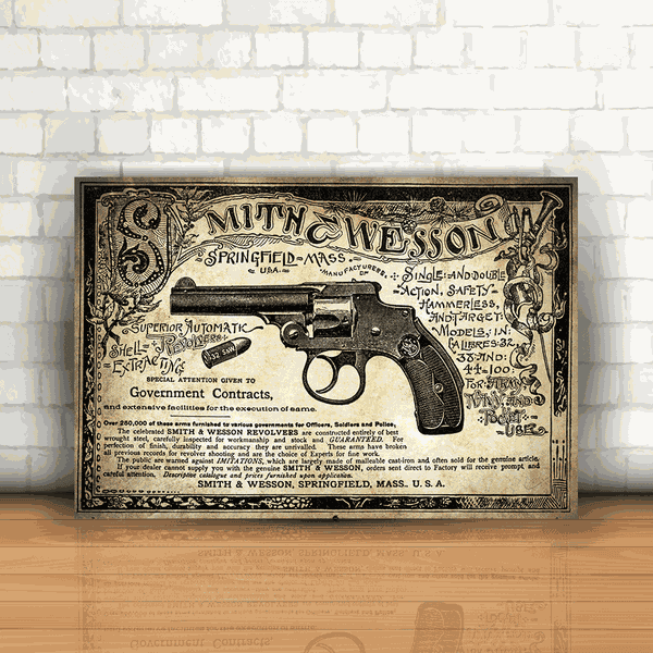 Placa Decorativa - Smith & Wesson