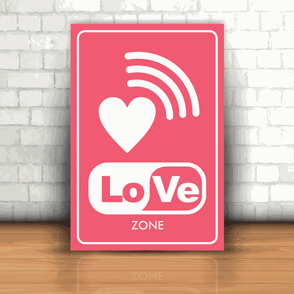 Placa Decorativa - Love Zone