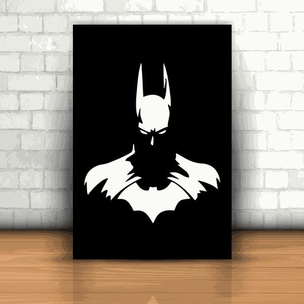 Placa Decorativa - Batman Preto e Branco