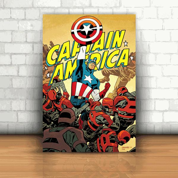 Placa Decorativa - Capitão América Quadrinhos