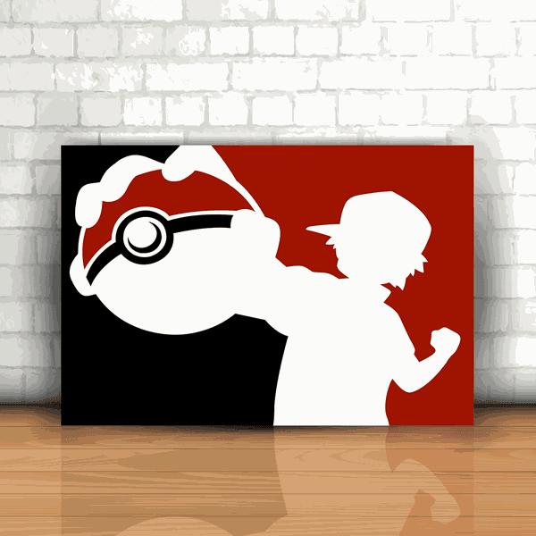 Placa Decorativa - Pokémon Ash Pokebola